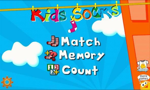 Kids Socks - Toddler game poster