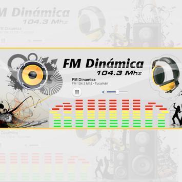 FM Dinámica Tucumán 104.3 Mhz poster