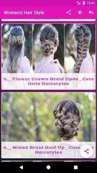 Women's Hair Style Latest   Cute girl Hair Style screenshot 1
