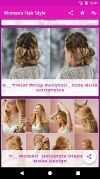Women's Hair Style Latest   Cute girl Hair Style screenshot 2