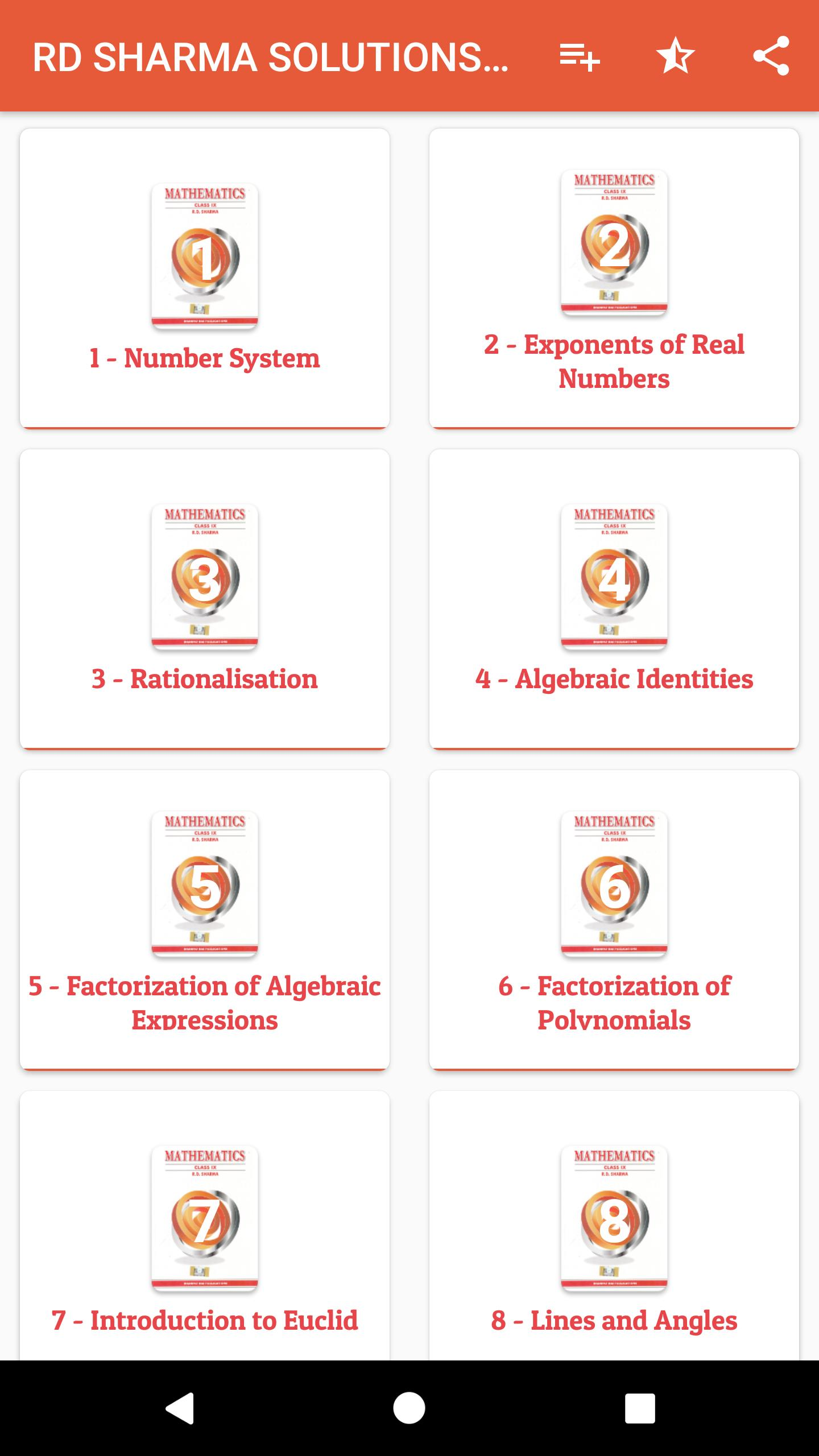RD Sharma Class 9th Maths Solutions (offline) for Android - APK Download