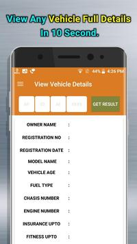RTO View Vehicle Details poster