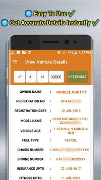 RTO View Vehicle Details screenshot 1