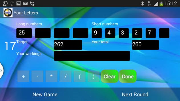 Countdown Word Game apk screenshot