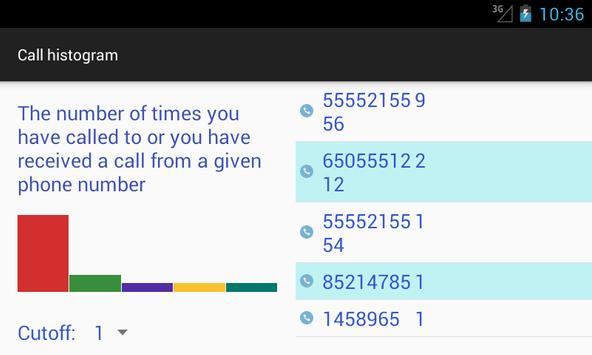 Phone Call Histogram screenshot 1