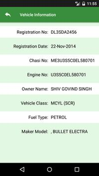 Vehicle License Info apk screenshot