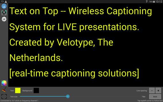 Text on Top - Vision apk screenshot