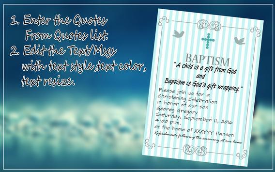 Baptism invitation maker apk download free social app for android baptism invitation maker apk screenshot stopboris Gallery