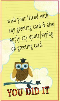 Graduation greetings for android apk download graduation greetings poster m4hsunfo