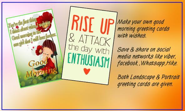 Good morning greeting cards apk download free social app for good morning greeting cards poster m4hsunfo