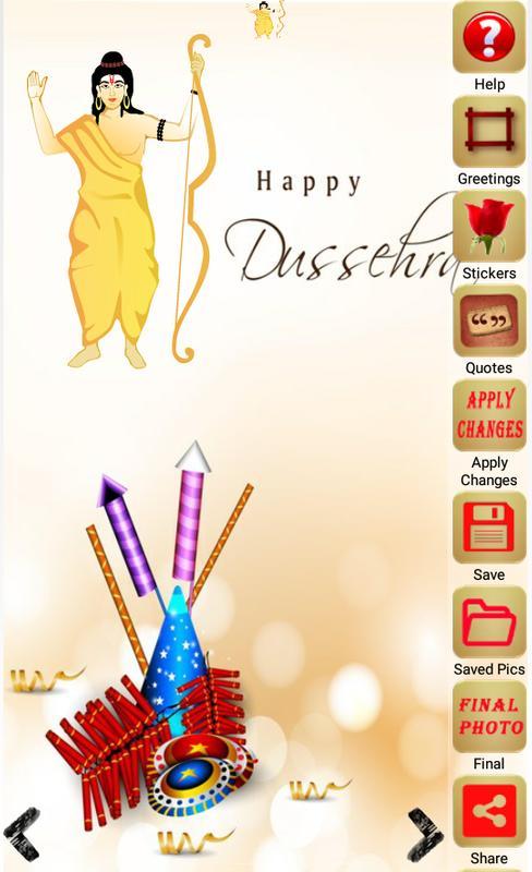 Dussehra greeting card maker apk download free social app for dussehra greeting card maker apk screenshot m4hsunfo