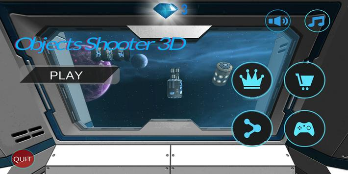 Objects Shooter in Space 3D poster