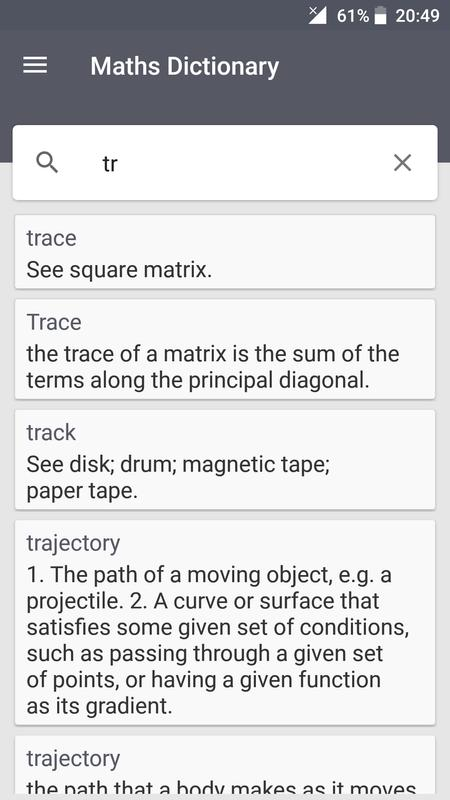 Maths Dictionary For Android