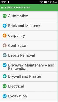 Vendor Directory screenshot 1