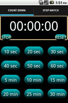 One Click Timer & Stopwatch poster