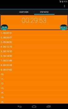 One Click Timer & Stopwatch apk screenshot