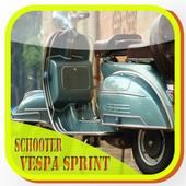 scooter modified vespa sprint icon