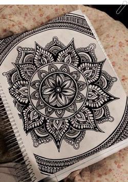 drawing zentangle art poster