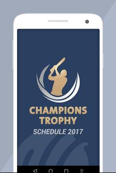 Champions Trophy Schedule 2017 poster