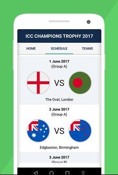 Champions Trophy Schedule 2017 apk screenshot