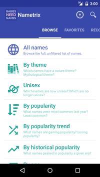 Baby Names by Nametrix screenshot 1