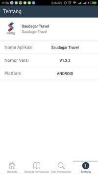 Saudagar Travel apk screenshot