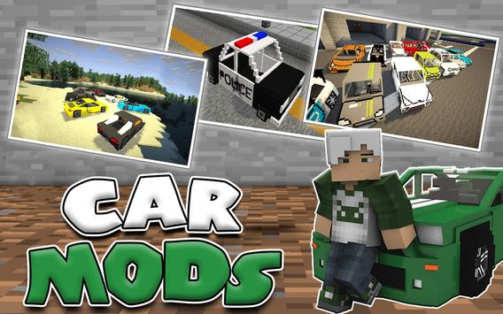 Cars MODS for Minecraft poster