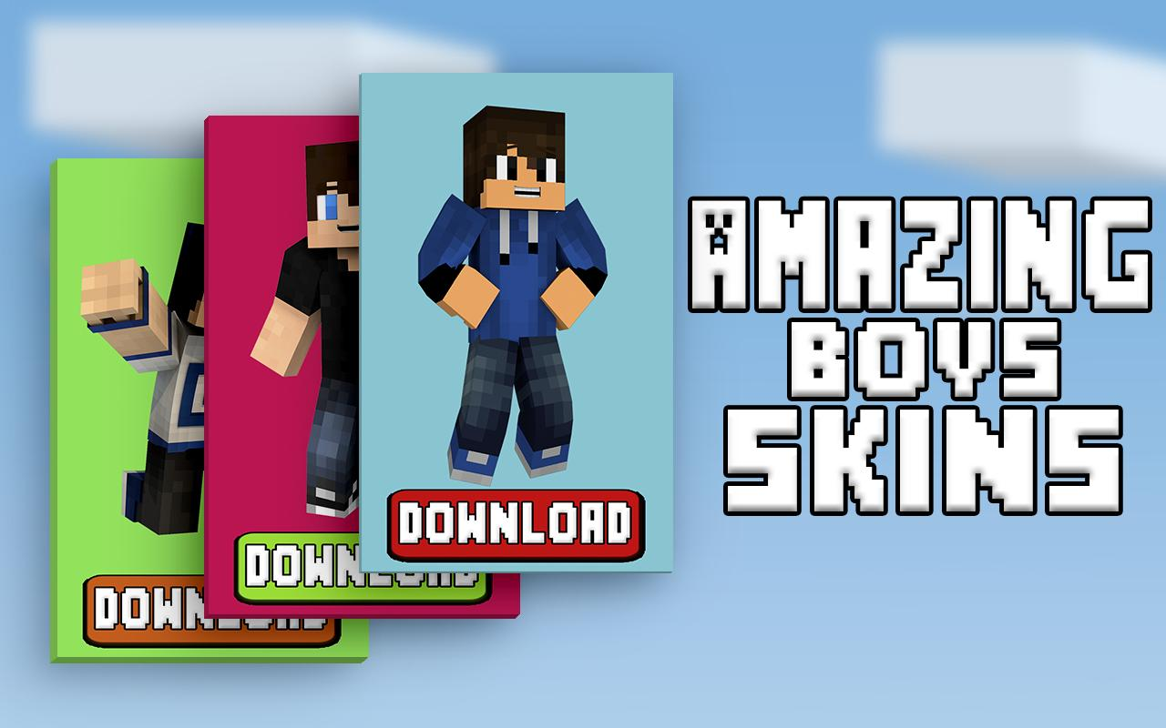 Boys Skins For Minecraft PE APK Download Free Entertainment APP - Skins fur minecraft pe downloaden