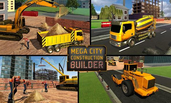Mega City Construction Builder poster