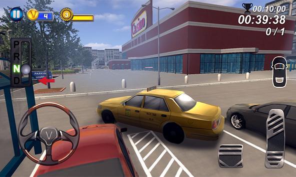 Modern Taxi School Parking 3D poster