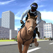 Mounted Police Horse 3D icon