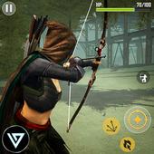ikon Ninja Archer Assassin FPS Shooter: 3D Offline Game