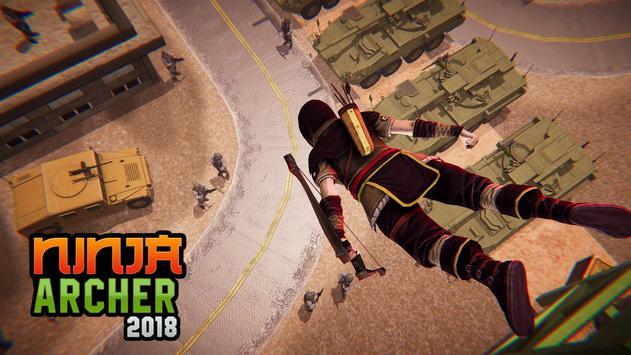 Ninja Archer Assassin FPS Shooter: 3D Offline Game poster
