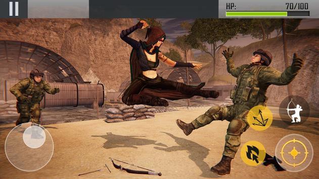 Ninja Archer Assassin FPS Shooter: 3D Offline Game screenshot 2