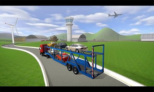 City Airport Cargo Plane 3D poster