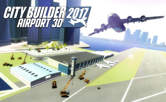 City builder 2017 Airport 3D poster