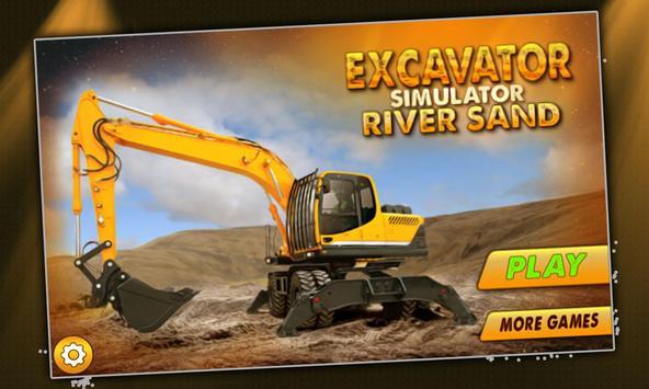 Excavator Simulator River Sand poster