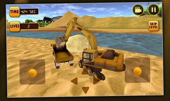 Excavator Simulator River Sand apk screenshot