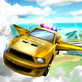 flying police car simulator 3D icon