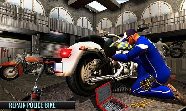Police Moto Mechanic Workshop poster