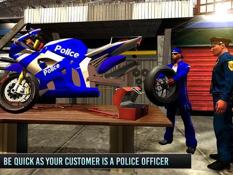 Police Moto Mechanic Workshop apk screenshot