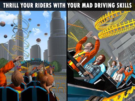 Roller Coaster Crazy Sky Tour screenshot 13