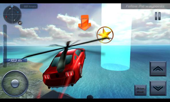 San Andreas Flying Car Sim 3D poster