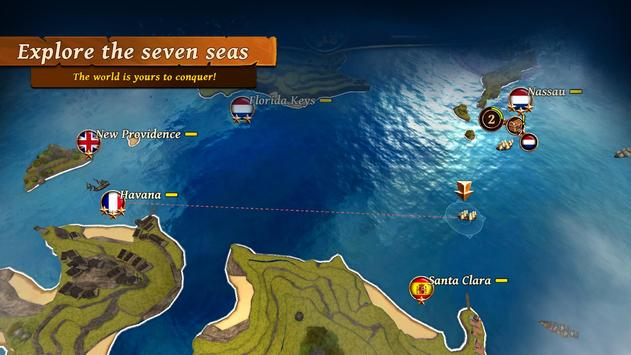 Ships of Battle: Ages of Pirates -Wars 'n Strategy screenshot 1
