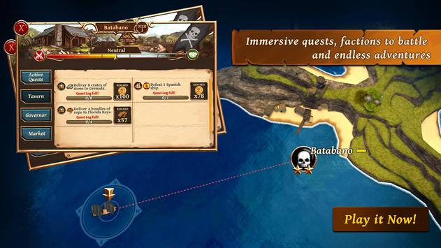Ships of Battle: Ages of Pirates -Wars 'n Strategy screenshot 3