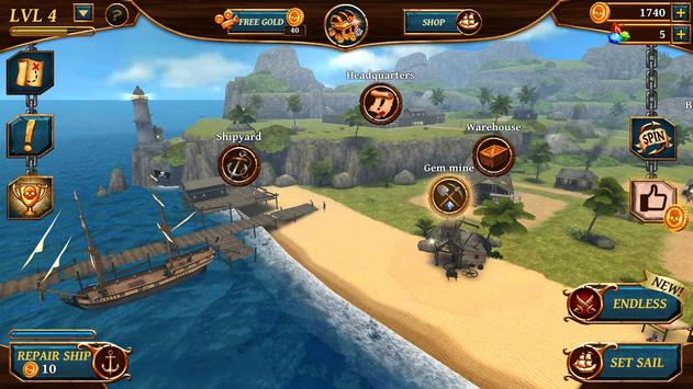 Ships of Battle: Ages of Pirates -Wars 'n Strategy screenshot 7
