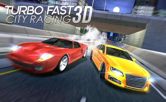 Turbo Fast City Racing 3D poster