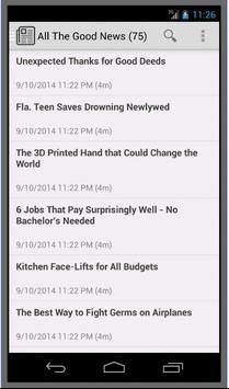 The Daily Good News apk screenshot