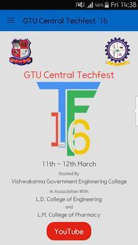 GTU Central Techfest '16 poster