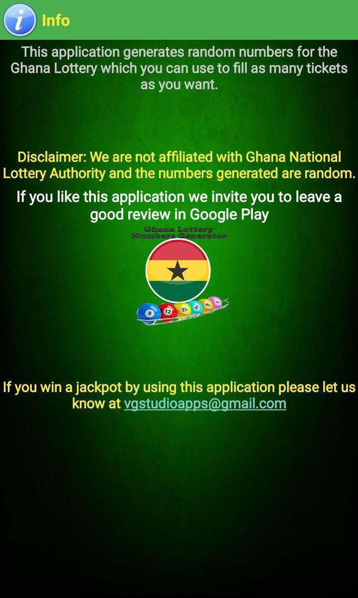 Ghana Lottery Numbers Generator for Android - APK Download